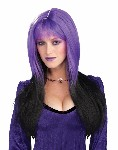 Dipped In Darkness Wig - Purple & Black